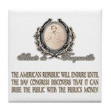 ALEXIS DE TOCQUEVILLE ON THE Tile Coaster