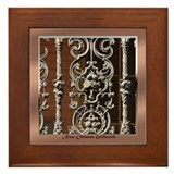 French Quarter Ironwork Framed Tile