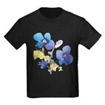Watercolor Flowers Kids Dark T-Shirt