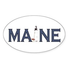 Maine Lighthouse Decal