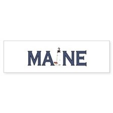 Maine Lighthouse Bumper Sticker