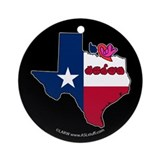 ILY Texas Ornament (Round)