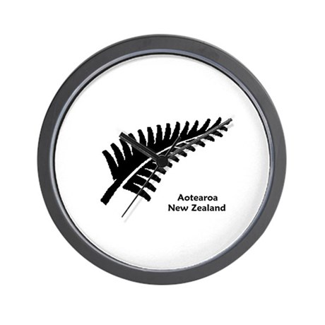 New Zealand (Fern) Wall Clock