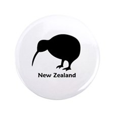 "New Zealand (Kiwi) 3.5"" Button"