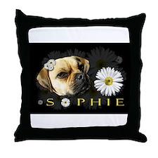 Sopie Puggle Black Throw Pillow