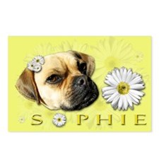 Sopie Puggle Yellow Postcards (Package of 8)