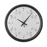 Complex (Cartesian) Large Wall Clock