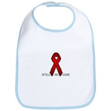 """Red Ribbon Pixel Art"" Bib"