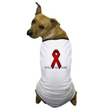 """Red Ribbon Pixel Art"" Dog T-Shirt"