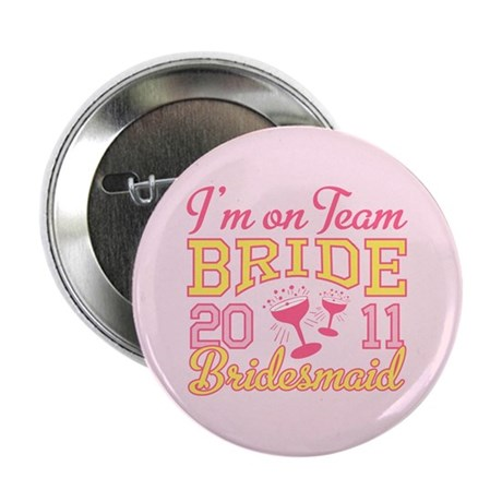 "Champagne Jr Bridesmaid 2.25"" Button"