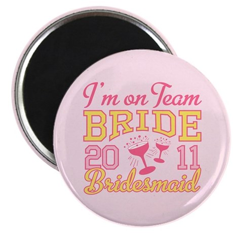 "Champagne Jr Bridesmaid 2.25"" Magnet (100 pack)"