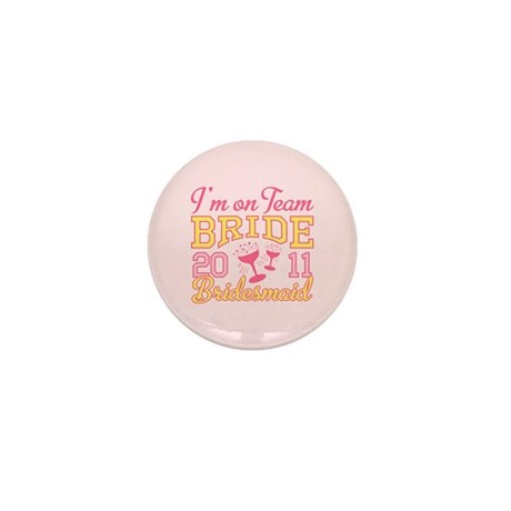 Champagne Jr Bridesmaid Mini Button (100 pack)