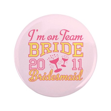 "Champagne Jr Bridesmaid 3.5"" Button"