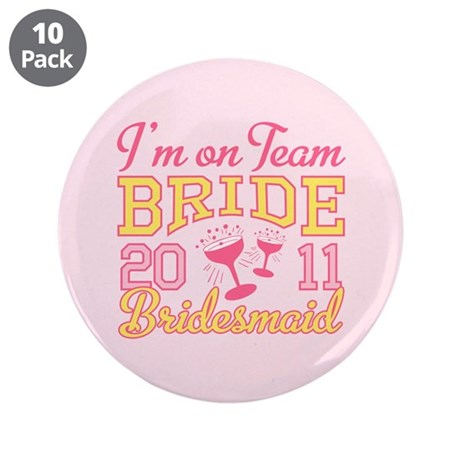 "Champagne Jr Bridesmaid 3.5"" Button (10 pack)"
