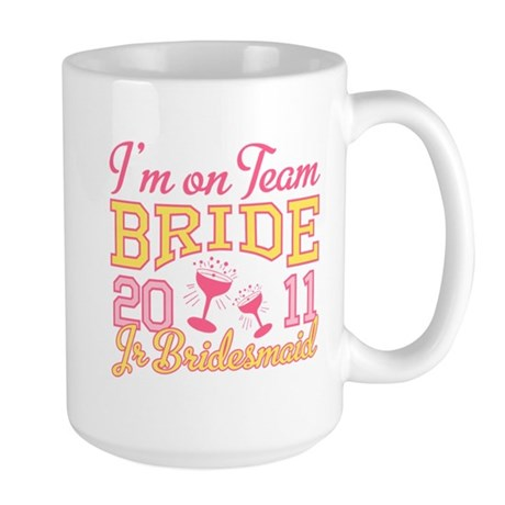 Champagne Jr Bridesmaid Large Mug