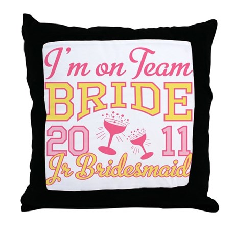 Champagne Jr Bridesmaid Throw Pillow