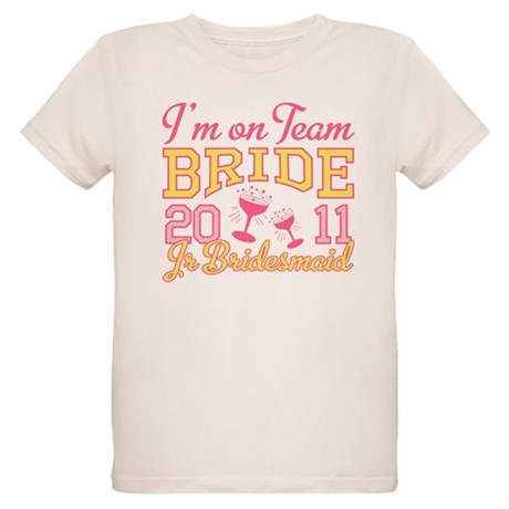 Champagne Jr Bridesmaid Organic Kids T-Shirt