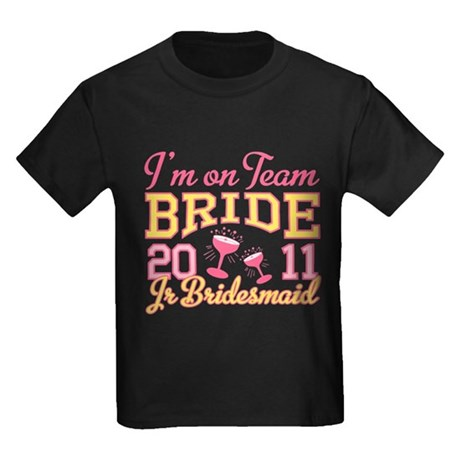 Champagne Jr Bridesmaid Kids Dark T-Shirt