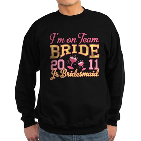 Champagne Jr Bridesmaid Sweatshirt (dark)