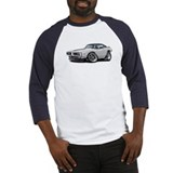 Charger White-Black Top Car Baseball Jersey