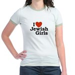 I Love Jewish girls Jr. Ringer T-Shirt