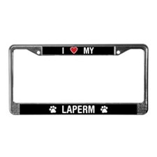 I Love My LaPerm Cat License Plate Frame