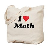 I Heart Math Tote Bag