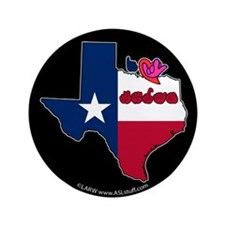 """ILY Texas 3.5"""" Button (100 pack)"""