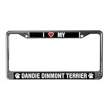 Love My Dandie Dinmont Terrier License Plate Frame