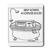 Computer in Tub Shouts Eureka Mousepad