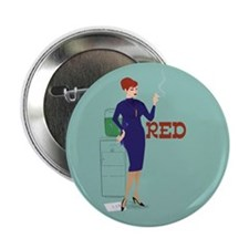 "Mad Men Red 2.25"" Button"