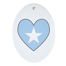 Somalia Flag Heart Shaped Ornament (Oval)