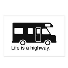 """Life is a highway."" RV Postcards (Package of 8)"