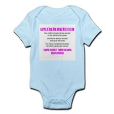 Pink Suicide Stats Infant Bodysuit