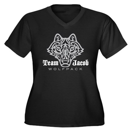 Team Jacob Wolfpack Women's Plus Size V-Neck Dark