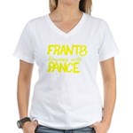 Frants rhymes with Pance Women's V-Neck T-Shirt