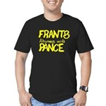 Frants rhymes with Pance Men's Fitted T-Shirt (dar