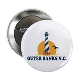 "Outer Banks NC - Lighthouse Design 2.25"" Button"