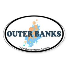 Outer Banks NC - Seashells Design Decal