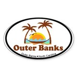 Outer Banks NC - Palm Trees Design Decal