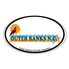 Outer Banks NC - Beach Design Decal
