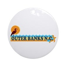 Outer Banks NC - Beach Design Ornament (Round)