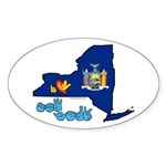 ILY New York Sticker (Oval 50 pk)