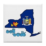 ILY New York Tile Coaster