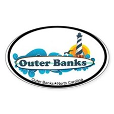 Outer Banks NC - Surf Design Decal