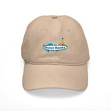 Outer Banks NC - Surf Design Baseball Cap