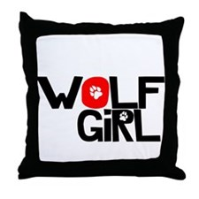 Wolf Girl - Throw Pillow