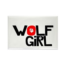 Wolf Girl - Rectangle Magnet