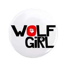 "Wolf Girl - 3.5"" Button"