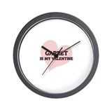 Garret Is My Valentine Wall Clock